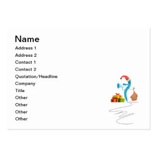 Funny Christmas character cartoon Business Cards