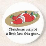 Funny Christmas coasters