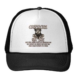Funny Christmas Confucius Mesh Hats