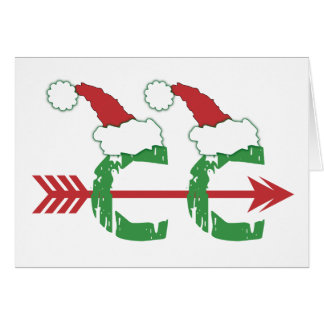 Funny Christmas Cross Country Running Note Card