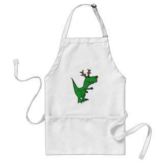 Funny Christmas Dinosaur as Reindeer Standard Apron