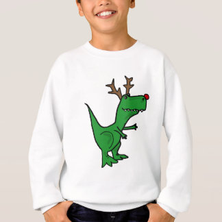 Funny Christmas Dinosaur as Reindeer Sweatshirt