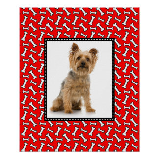 Funny Christmas Dog Portrait Photo Template Poster