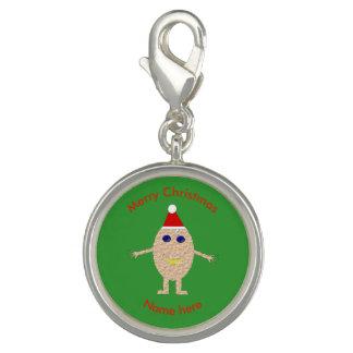Funny Christmas Egg Charm