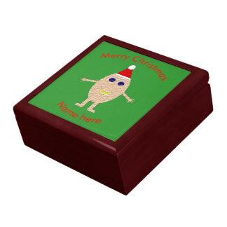 Funny Christmas Egg Custom Gift Box
