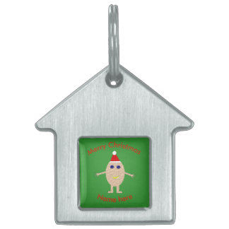 Funny Christmas Egg Custom Pet Tag