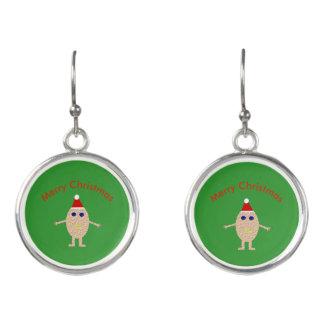 Funny Christmas Egg Drop Earrings