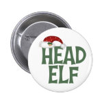 Funny Christmas Elf Button