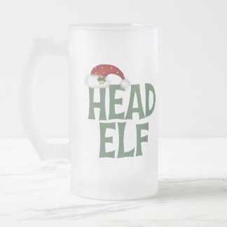 Funny Christmas Elf Frosted Mug