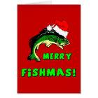 Funny Christmas fishing Card