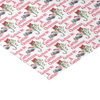 Funny Christmas Fishing ♫♥  Catfish Christmas Tissue Paper