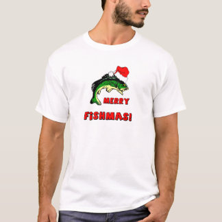 Funny Christmas fishing T-Shirt