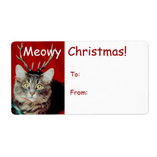 Funny Christmas Gift Tag Labels