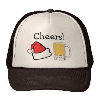 Funny Christmas Holiday Cheers Santa Beer Cap