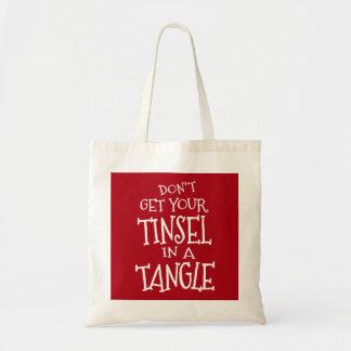 Funny Christmas Holiday Tote Bag