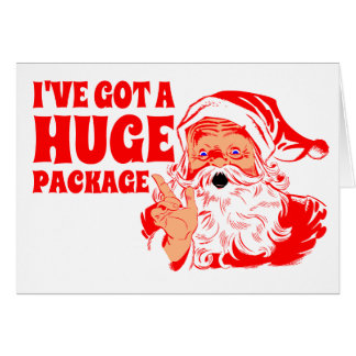 Funny Christmas, Huge Package Greeting Card