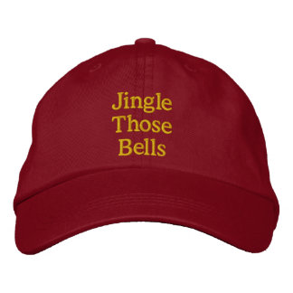 Funny Christmas innuendo red gold Embroidered Hats
