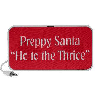 Funny Christmas Item.  Santa Claus Joke. Travelling Speaker