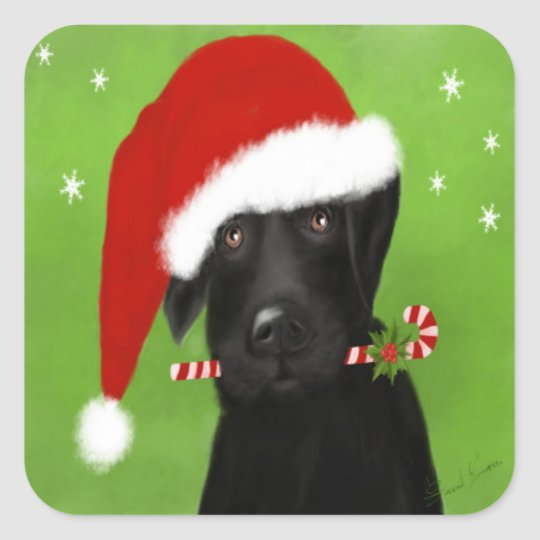 Funny Christmas Labrador, Dog Sticker
