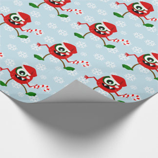 Funny Christmas Monster Wrapping paper
