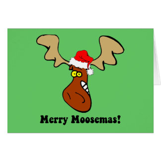 Funny Christmas moose Card