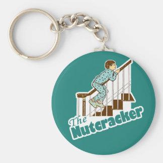Funny Christmas Nutcracker Basic Round Button Key Ring