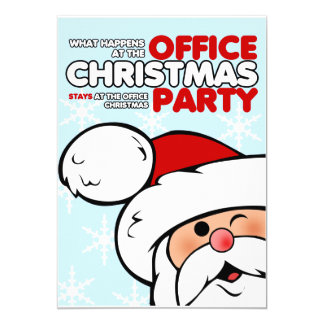 Funny Christmas Office Party Invitations
