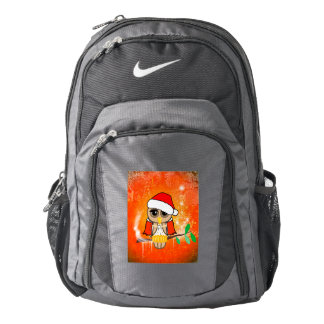 Funny christmas owl backpack