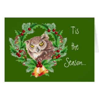 Funny Christmas Owl with Attitude Bird Humor Greeting Card
