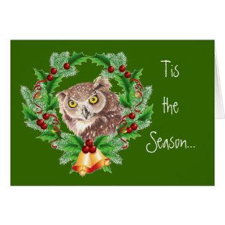 Funny Christmas Owl with Attitude Bird Humor Greeting Card