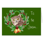 Funny Christmas Owl with Attitude Bird Humour Greeting Card