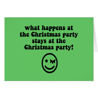Funny Christmas party Greeting Card