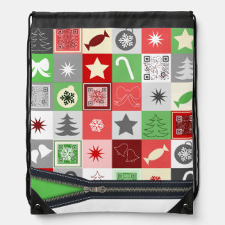 Funny Christmas pattern bag with funny videos Backpack