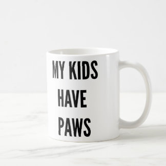 Funny Christmas pet lover my kids have paws Coffee Mug