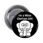 Funny Christmas Present: Real White Elephant Gift! 6 Cm Round Badge
