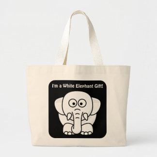 Funny Christmas Present: Real White Elephant Gift! Jumbo Tote Bag