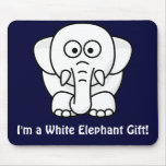 Funny Christmas Present: Real White Elephant Gift! Mousemats