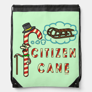 Funny Christmas Pun Citizen Cane Backpack