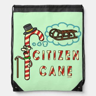 Funny Christmas Pun Citizen Cane Rucksack