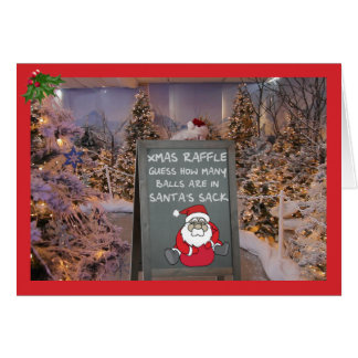 Funny Christmas raffle Card