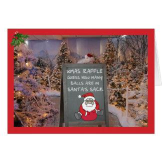 Funny Christmas raffle Cards