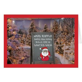 Funny Christmas raffle Greeting Card