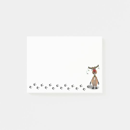 Funny Christmas Red Nosed Reindeer - Post-it® Note
