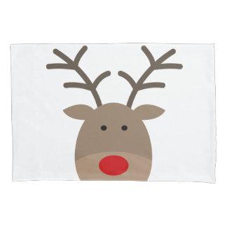 Funny Christmas reindeer pillowcase for bedroom