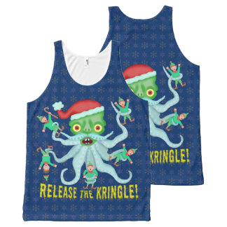 Funny Christmas Release the Kringle Santa Claus All-Over Print Tank Top