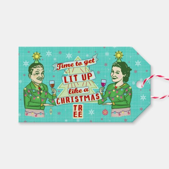 Funny Christmas Retro Drinking Humour Couple Lit Gift