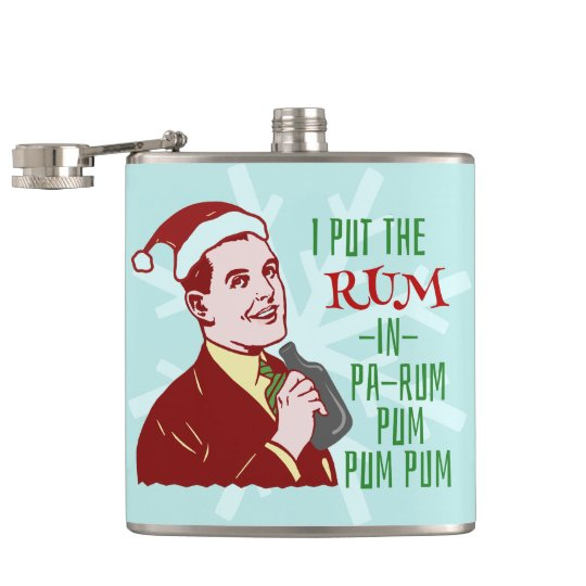 Funny Christmas Retro Rum Drinking Man Holiday Hip