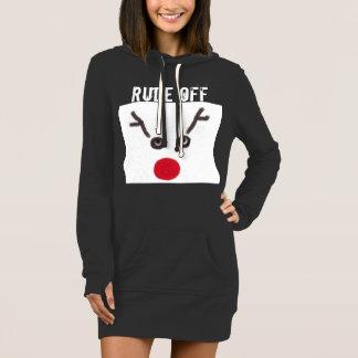 "Funny Christmas ""Rude Off"" dress/shirt Dress"