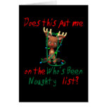 Funny Christmas  Rudolph's Been Naughty