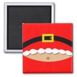 Funny Christmas Santa Claus suit magnet